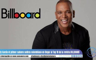 Willy García el primer salsero solista colombiano en llegar al Top 10 de la revista BILLBOARD